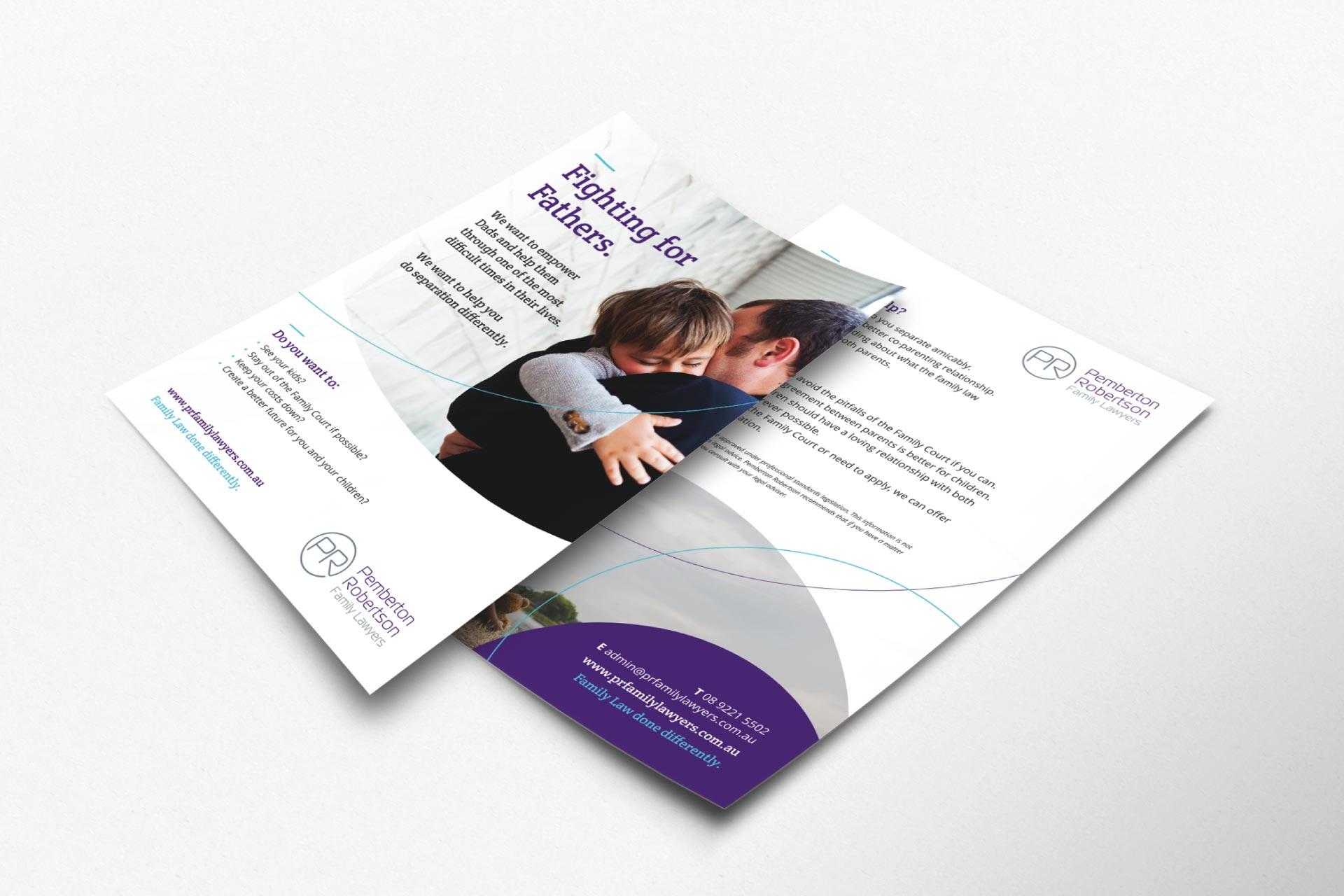 flyer deisgn Pemberton Robertson Family Lawyers