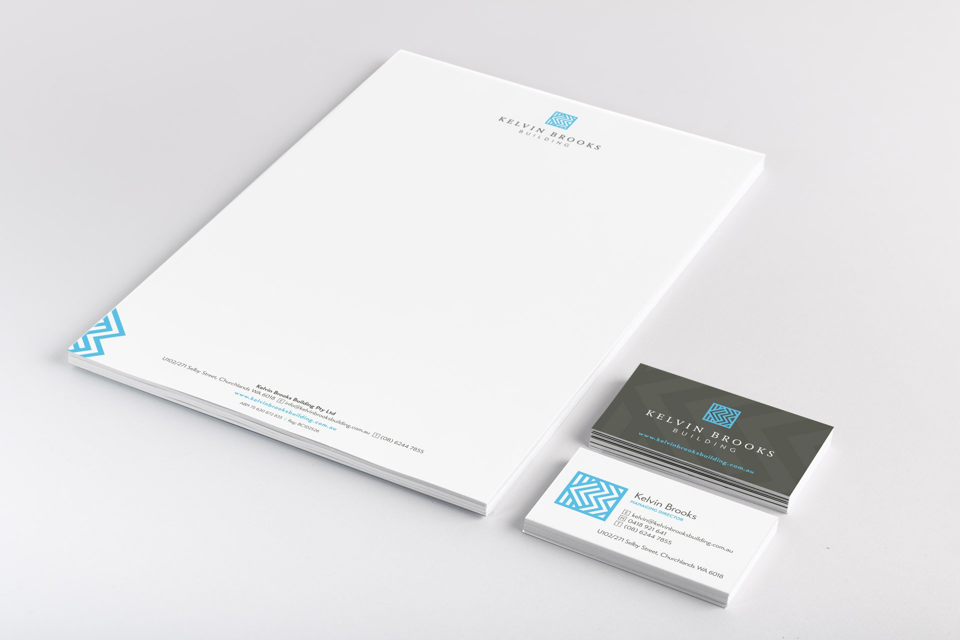 letterhead business card design