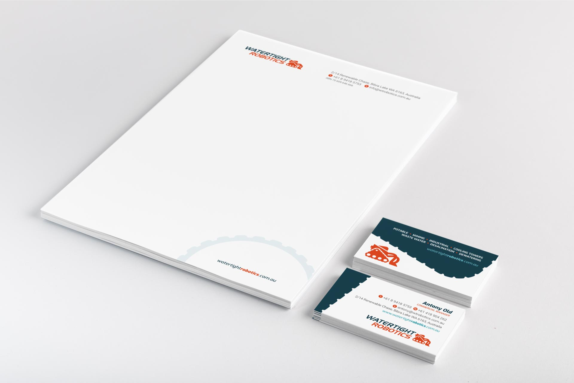 letterhead business card design perth