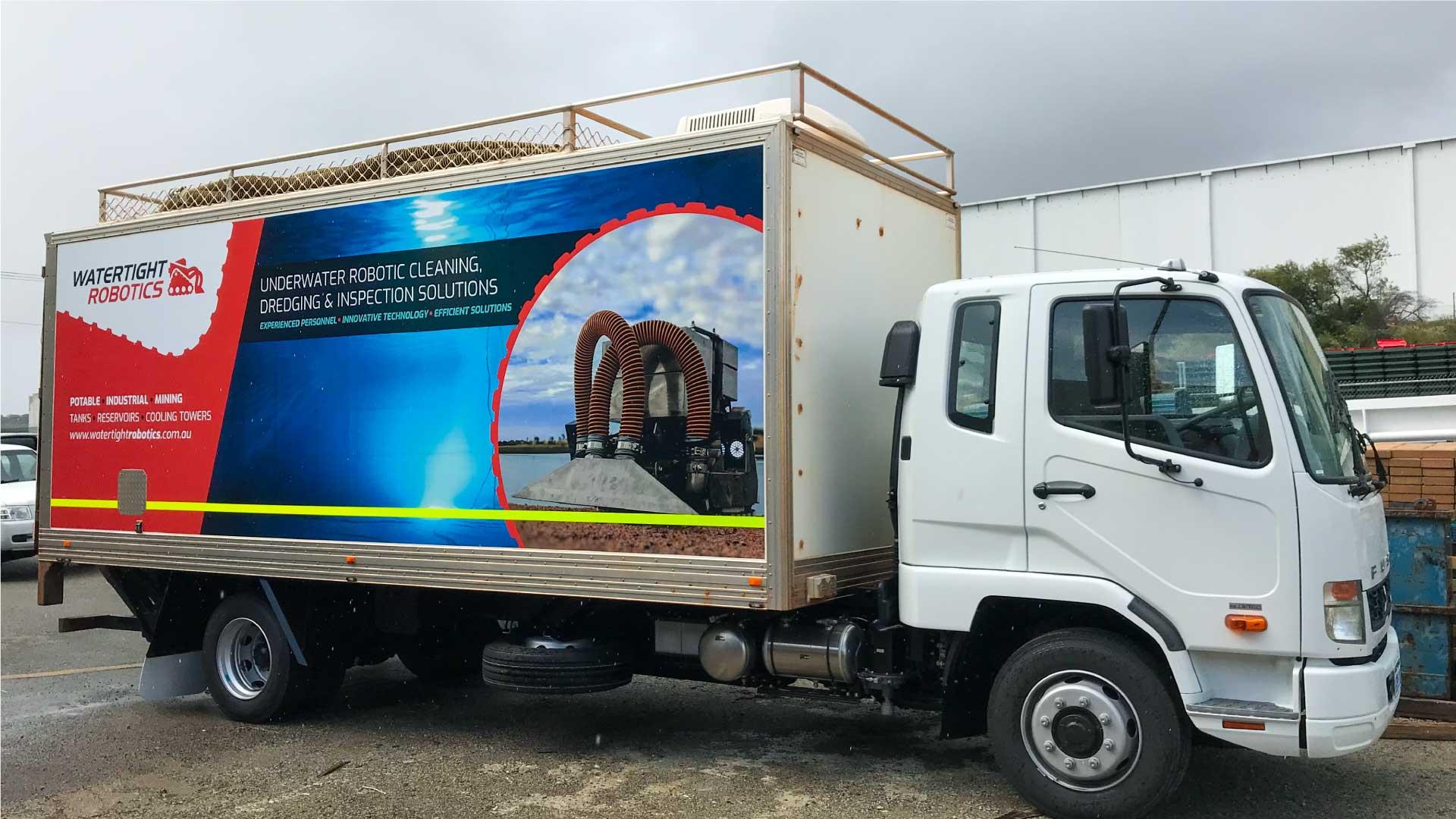 truck signage design watertight robotics perth
