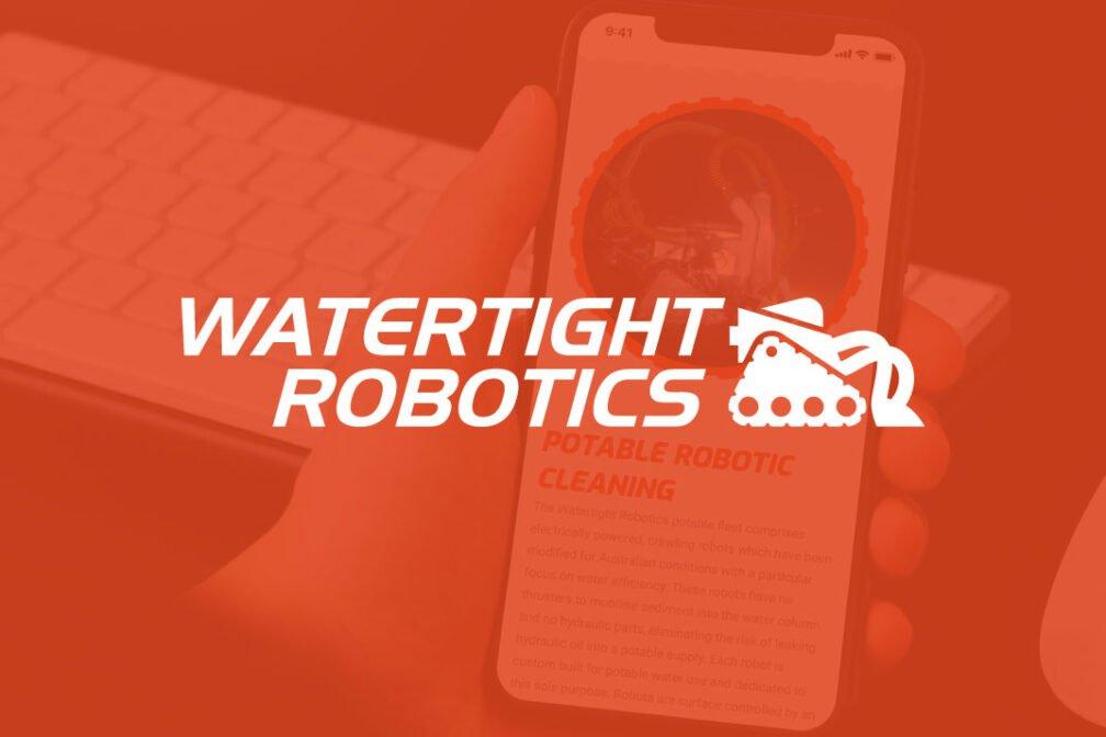 perth watertight robotics logo deisgn