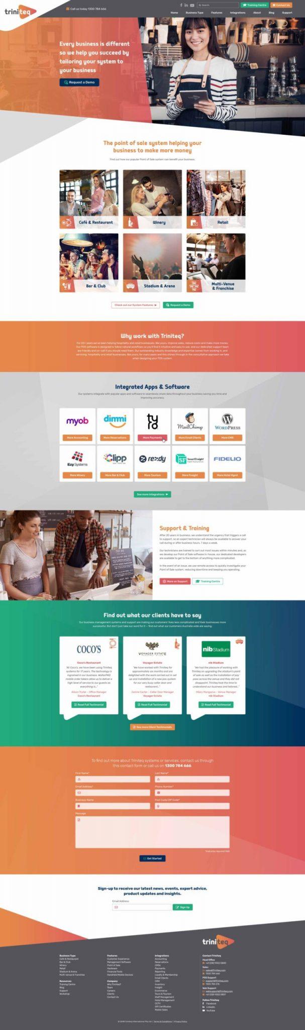 web design triniteq perth crux creative