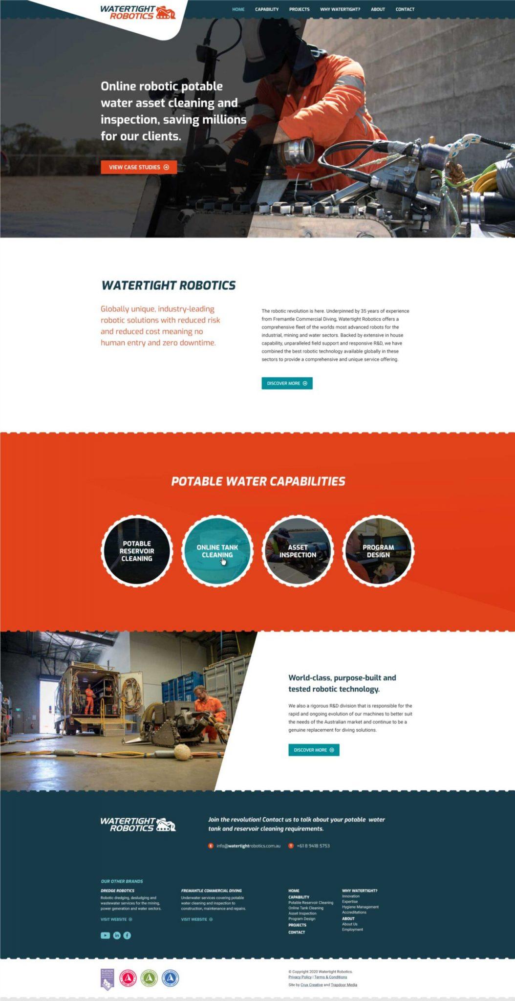 fremantle commercial diving web design