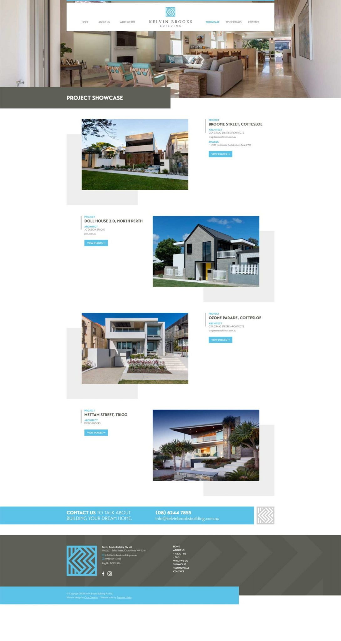 web design projects page kelvin brooks building