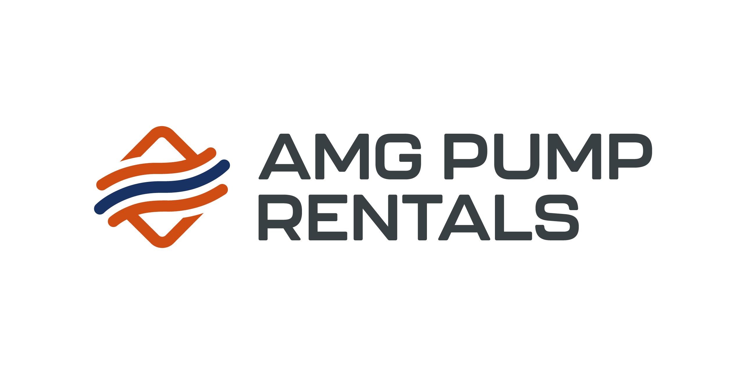 amg pump rentals logo design