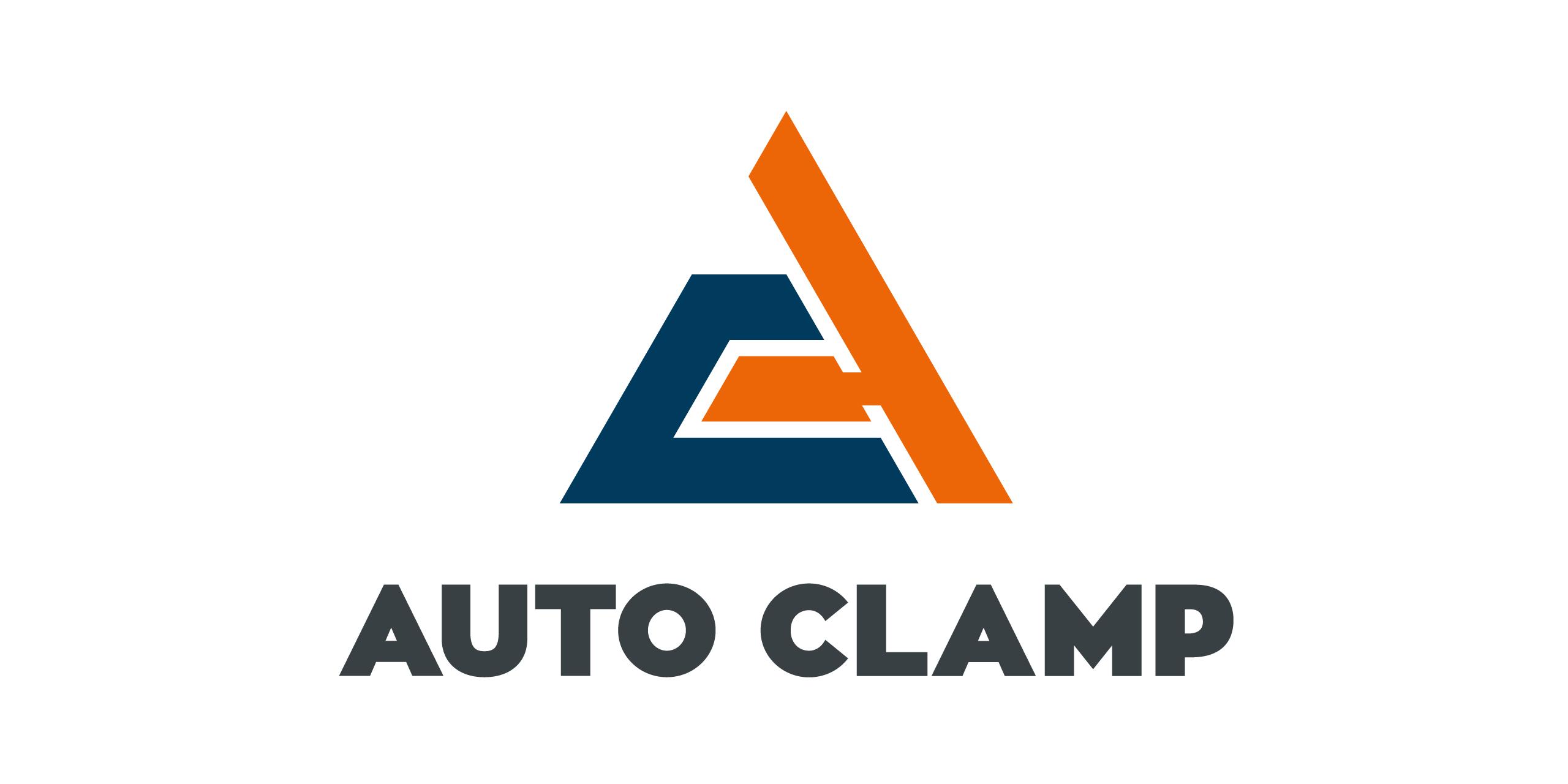 auto clamp logo design triangle