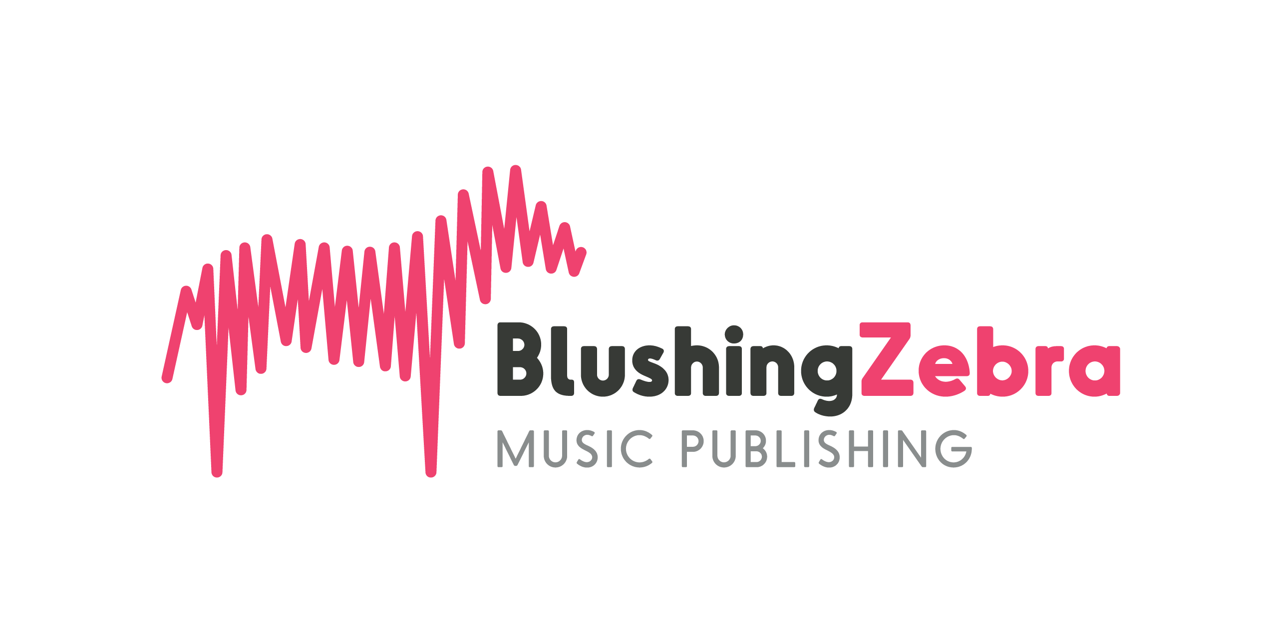 blushing zebra logo design soundwaves