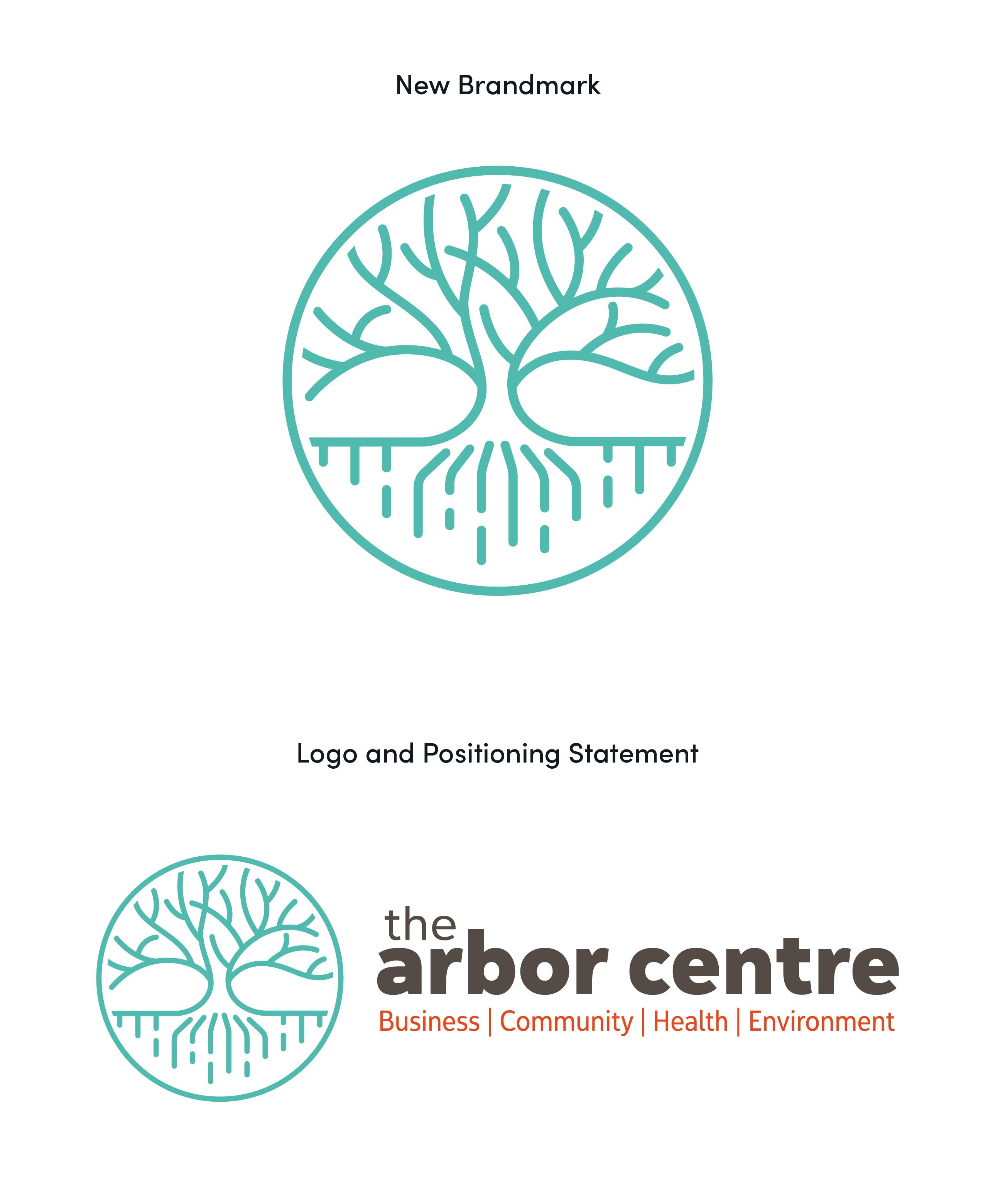 logo rebrand refresh arbor centre