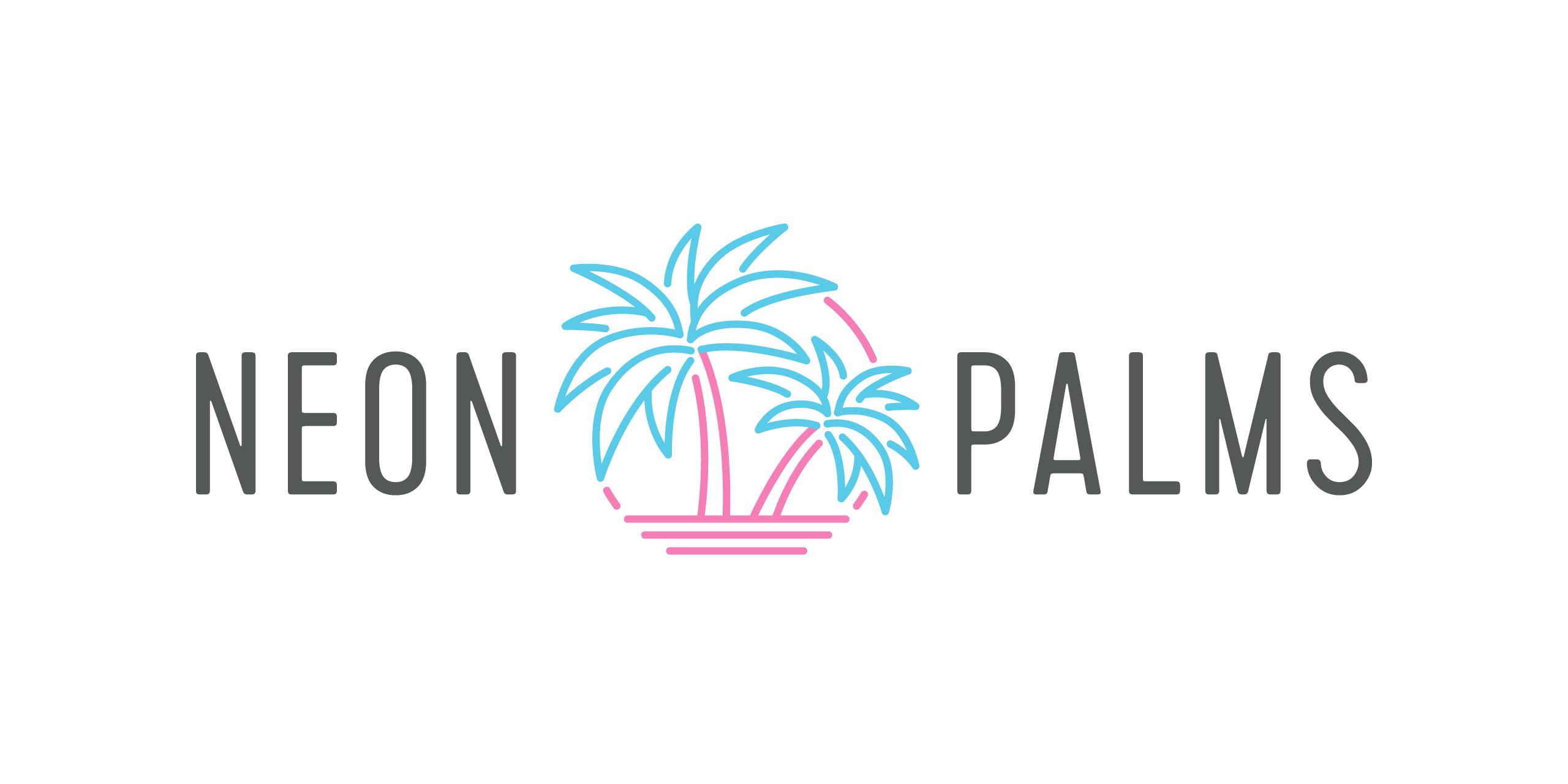 neon palms logo design perth